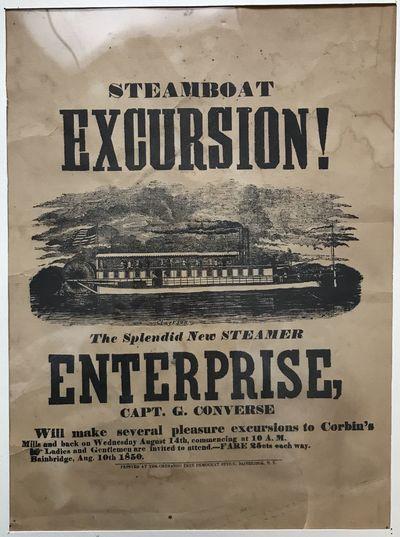Bainbridge, N.Y.: Chenango Free Democrat Office, 1850. Very good.. Broadside, 15.75 x 12 inches. Mat...