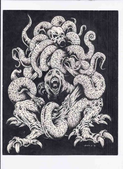 viaLibri ~ Original Artwork By Allen Koszowski for WEIRDBOOK