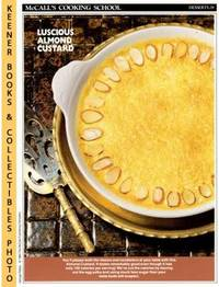 image of McCall's Cooking School Recipe Card: Desserts 28 - Almond Custard :  Replacement McCall's Recipage or Recipe Card For 3-Ring Binders : McCall's  Cooking School Cookbook Series