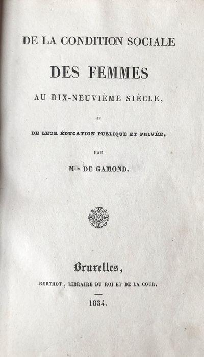 Brussels: (H. Rémy for) Berthot, Libraire du Roi et de la Cour, 1834. 18mo (155 x 100 mm). , 161, p...