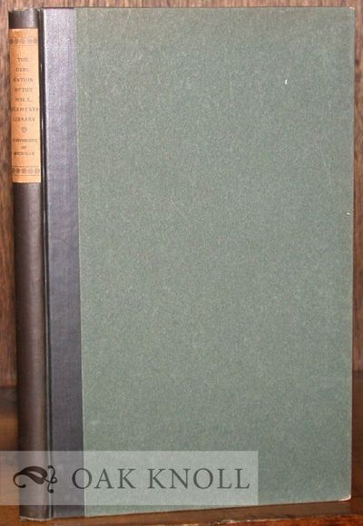 Ann Arbor: University of Michigan, 1923. cloth-backed boards, paper spine label. 8vo. cloth-backed b...