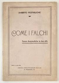 image of Come i falchi. Scene drammatiche in due atti