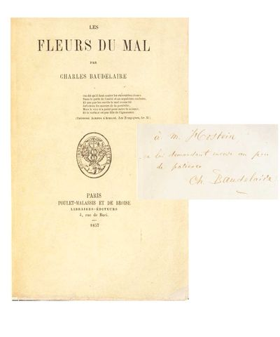 Paris: Poulet-Malassis et de Broise, 1857. First edition. First issue with the running title misprin...