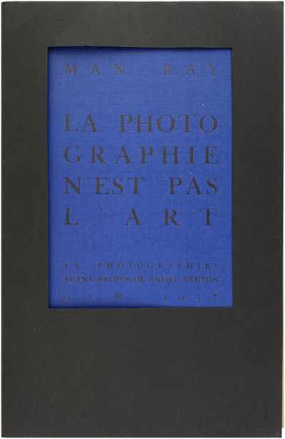 Paris: GLM, 1937. Light crease to the top edge of the plates, else fine in wrappers, black cutout wr...