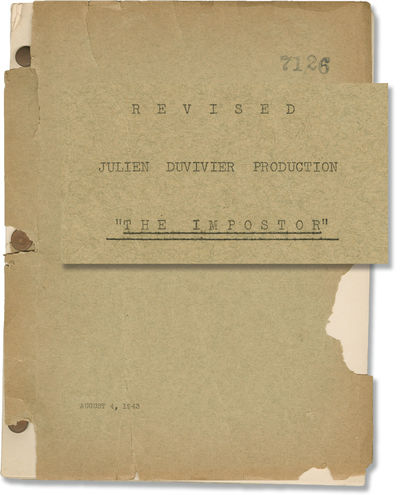 Universal City: Universal Pictures, 1943. Revised Draft script for the 1944 film. With a few small h...
