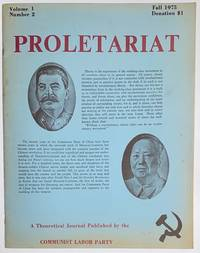 image of Proletariat, a theoretical journal. Vol. 1, no. 2 (Fall 1975 )