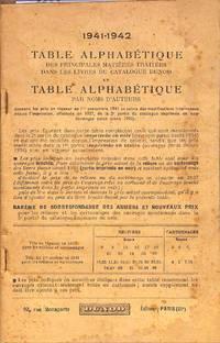 Table Alphabétique des principales matières traitées dans les livres du...