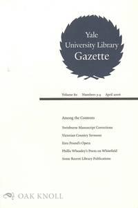 YALE UNIVERSITY LIBRARY GAZETTE.|THE