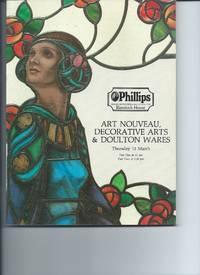 Philips Art Nouveau, Decorative Arts & Doulton Vases March 13 1986