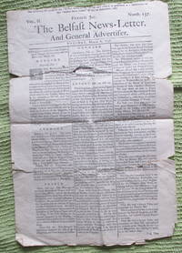 The Belfast News-Letter, and General Advertiser. Vol. II Numb. 157,  Tuesday, March 6, 1738 (facsimile