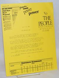 image of Power to the People Press Release