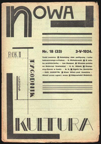 Warsaw: Franciszka Kwiatkowska, 1924. Octavo (25 × 17.5 cm). Original staple-stitched printed wr...