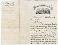 Washington Attorney and Inventor Writes to Arms Manufacturer about Andrew Johnson's Impeachment