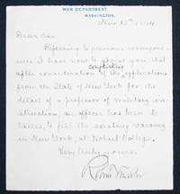 Handwritten letter signed by Robert Todd Lincoln