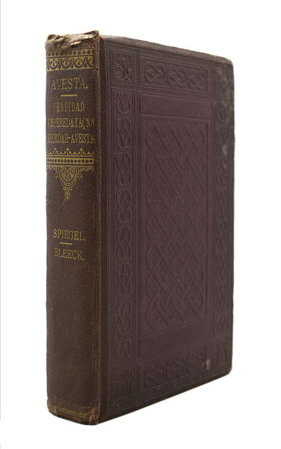 First Edition in English of the Avesta BLEECK, Arthur Henry, translator. . Avesta: The Religious Boo...