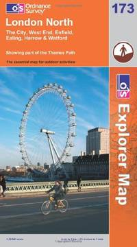 image of London North: The City, West End, Enfield and Ealing (Explorer Maps) (OS Explorer Map)