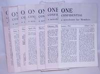 image of One Confidential: a newsletter for members; [vol. 10: a broken run of 7 issues, 1965]