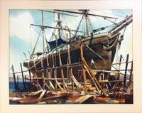Boat in Dry Dock Watercolor