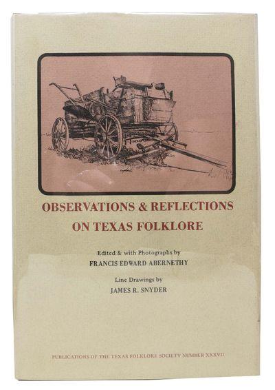 Austin: The Encino Press, 1972. 1st edition. Red cloth binding in dust jacket. F/NF (slightly darken...