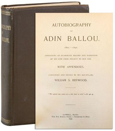 Lowell, MA: The Vox Populi Press / Thompson & Hill, 1896. First Edition. Octavo (20.5cm.); publisher...