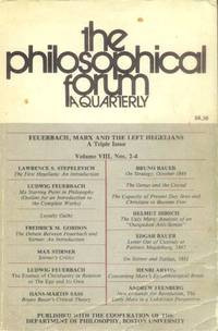 The Philosophical Forum: A Quarterly: Volume VIII, Nos. 2-4