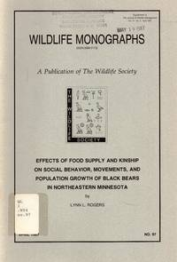 Effects of food supply and kinship on social behavior, movements, and population growth of black bears in northeastern Minnesota