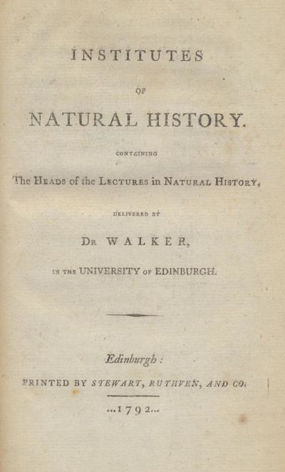 Institutes of Natural History:...