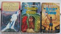 "Seventh Sword trilogy:  book one ""The Reluctant Swordsman"", book two ""The Coming of Wisdom"", book three ""The Destiny of the Sword"" -complete 3 volume set ""Seventh Sword"" trilogy"