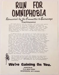 image of Run for Omniphobia. Sponsored by the committee to encourage timorousness (handbill)