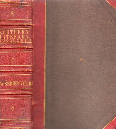Richmond: Macfarlane, Fergusson & Co., Proprietors, 1857. First Edition. Hardcover. Good. Thick octa...
