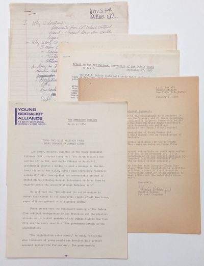 New York: YSA, 1966. Five items, most 8.5x11 inches, some toning and handling wear, couple minor sta...