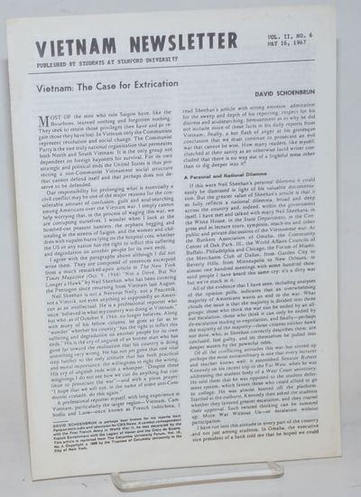 Stanford, CA: Graduate Students of the Department of Political Science, 1967. Single issue of the ne...