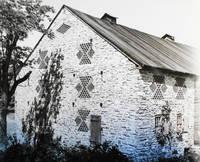"""image of Pennsylfawnisch Ditesch Scheiers: """"Pennsylvania Dutch Barns to You"""" by J. Wm. Stair [original photographs of brick-end barns]"""