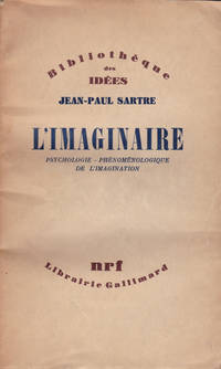image of L'IMAGINAIRE: Psychologie -- Phenomenologique de l'Imagination.