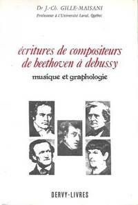 Ecritures de compositeurs de Beethoven à Debussy, musique et graphologie