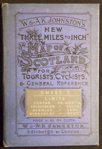 """W. & A.K. Johnston's New """"Three Miles to Inch"""" Map of Scotland Colored for Tourists, Cyclists, & General Reference: Sheet 7 [linen-backed]"""