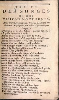 Traité des songes et des visions nocturnes avec leurs significations, selon la doctrine des Anciens, expliquées par ordre alphabétique