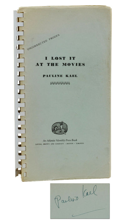 Boston: Little, Brown and Company, 1965. First Edition. Very Good. Signed by Kael on verso of front ...