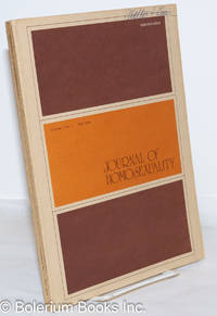 image of Journal of Homosexuality: vol. 1, #1, Fall 1974