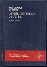 Applied Regression Analysis. Second Edition