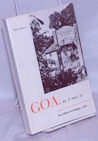 image of Goa, as I saw it
