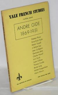 Andre Gide, 1869-1951 in Yale French Studies, number seven