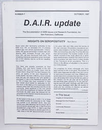 D.A.I.R. Update: Number 7, October, 1987: Insights on Seropositivity
