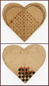 Hand painted Paper Woven Heart Friendship Pocket [Woven Paper, Love and Friendship, Paper Pocket]