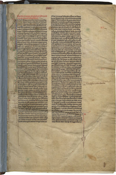 LARGE FORMAT EARLY THIRTEENTH CENTURY ENGLISH BIBLE OF CONSIDERABLE SCHOLARLY IMPORTANCE. In Latin, ...