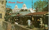 Olvera Street, Los Angeles, California unused chrome Postcard
