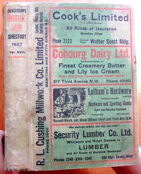 Henderson Moose Jaw Directory 1927. Classified Business Directory and Buyer's Guide