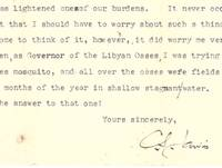 image of Typewritten letter to Dr Macpherson