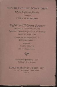Superb English Porcelains of the Eighteenth Century and English XVIII Century Furniture...