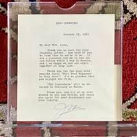 Letter Typed letter signed